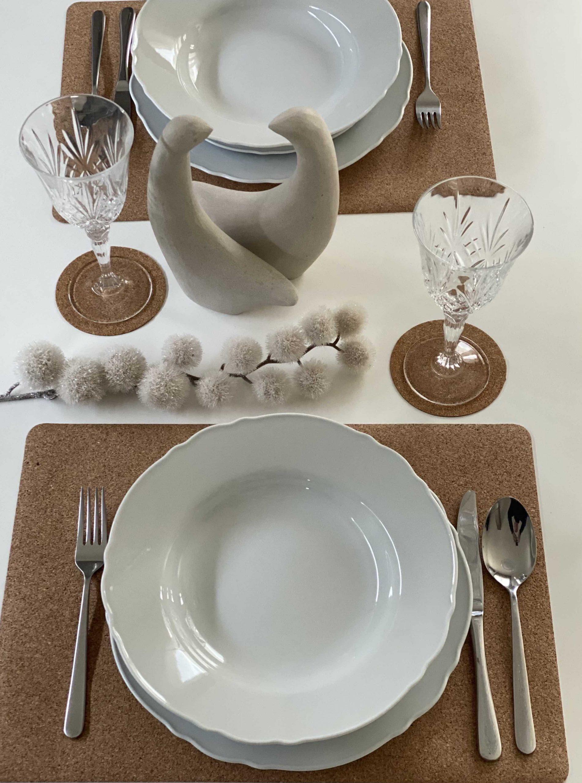 Anti-slip Natural Cork Table Sets and Coasters