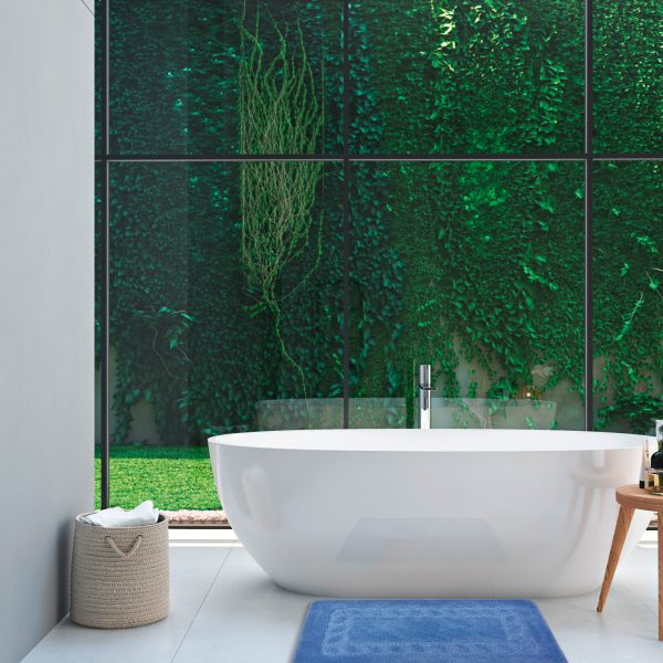green spa bathroom. 3d rendering
